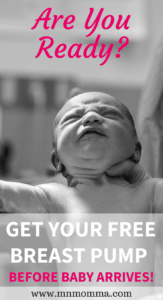 get your free breast pump before baby arrives