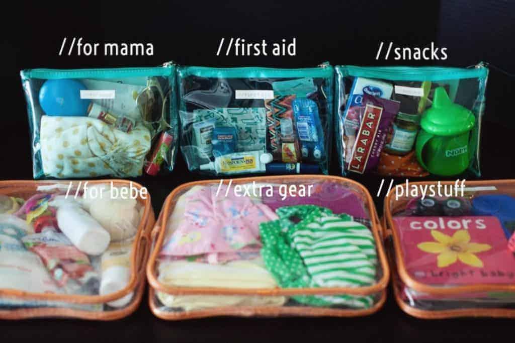 baby bag dollar store hack