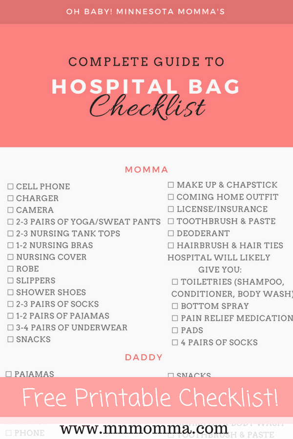 hospital bag checklist for mom baby what you really need