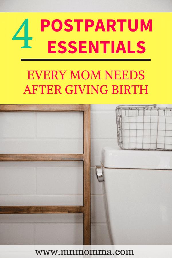 4 Postpartum Essentials for Mom