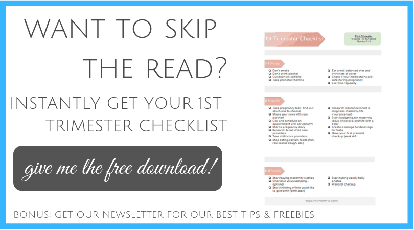 First Trimester Checklist - Free Download