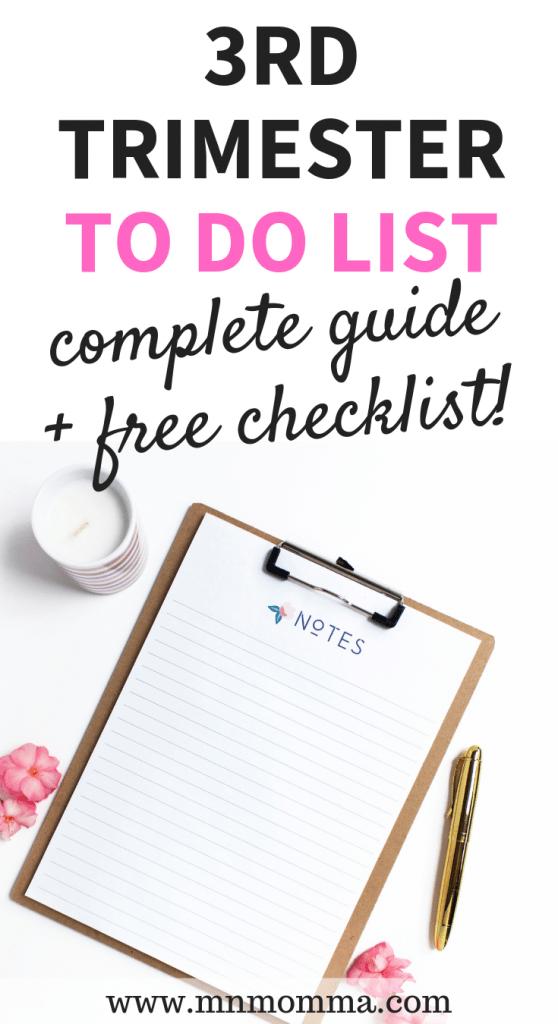 3rd trimester checklist