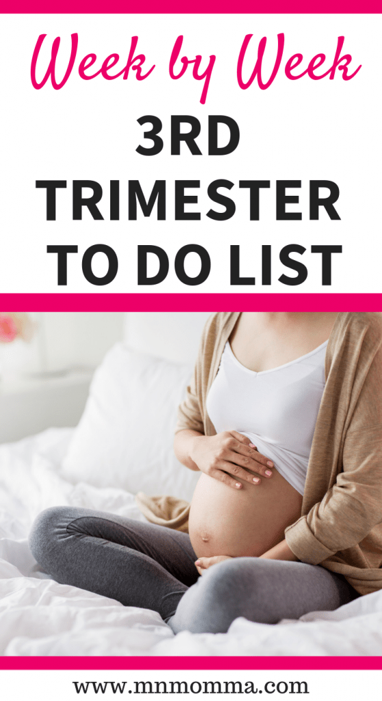 3rd trimester checklist free printable